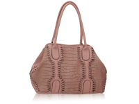 Large animal skin tote with stiching detail