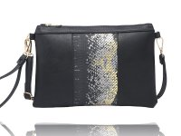 2 Small clutch/wristlet with shoulder strap, sold in pack of 2