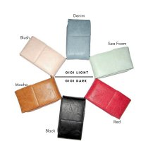 6 Large wallet can be worn on shoulder with zippered compartment and card slots 2xblush, 2x denim, 2x sea foam