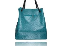 Large ostrich embossed tote