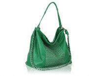 Medium Hobo populated with studs and a removable metal chain strap